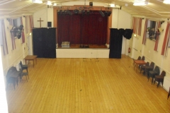 View of hall and stage from the lighting gallery