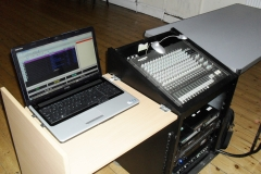 The Sound Desk and laptop