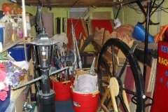 The props store under the stage